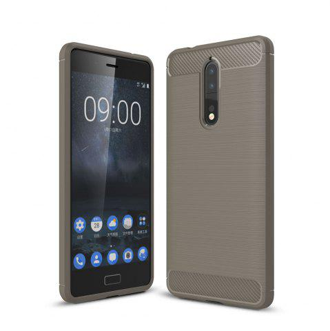 Store Case for Nokia 8 Luxury Carbon Fiber Anti Drop TPU Soft Cover