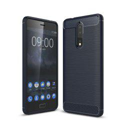 Case for Nokia 8 Luxury Carbon Fiber Anti Drop TPU Soft Cover -