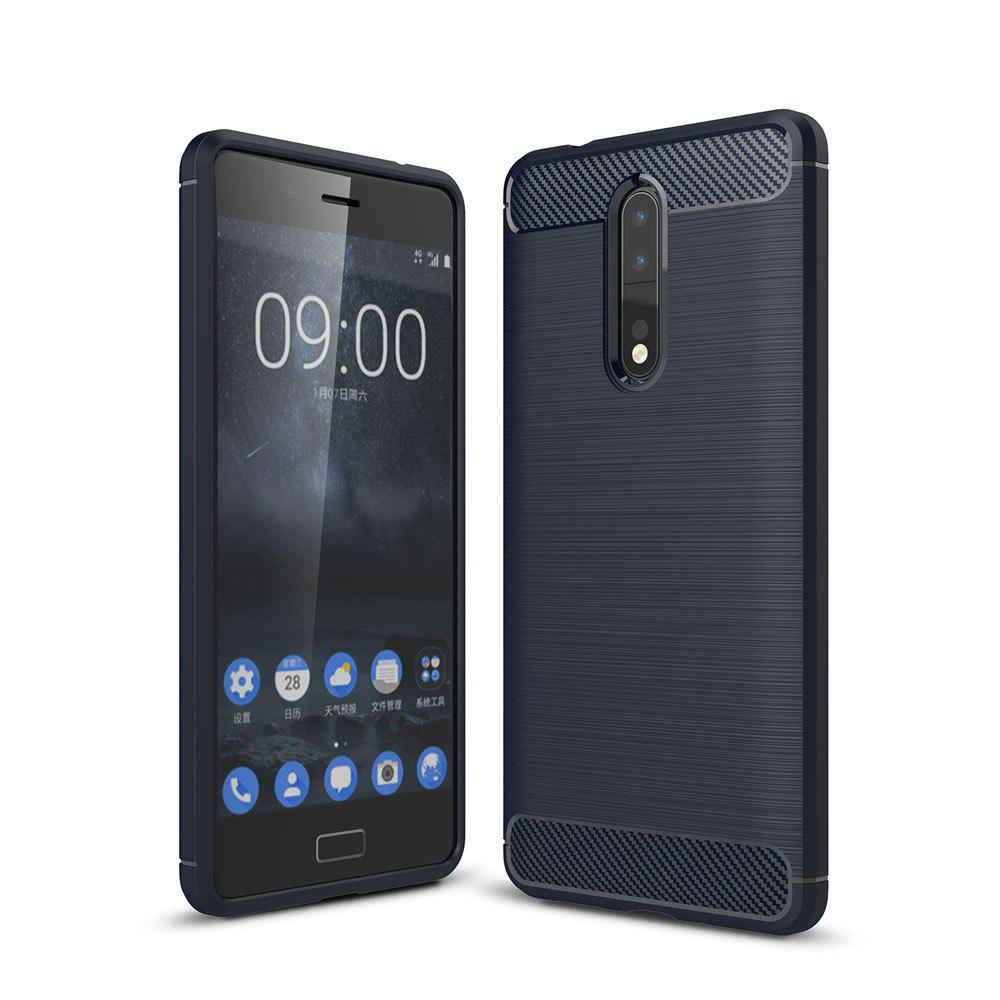 Shops Case for Nokia 8 Luxury Carbon Fiber Anti Drop TPU Soft Cover