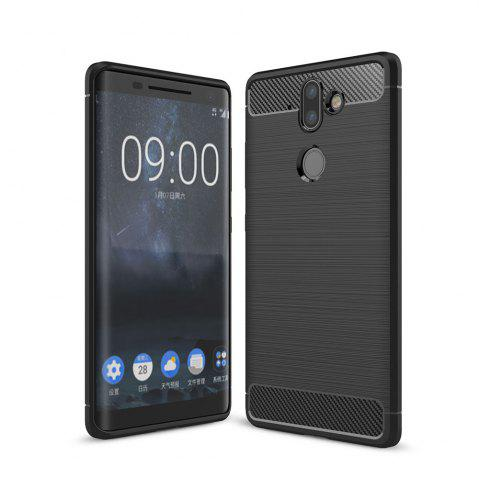Best Case for Nokia 9 Luxury Carbon Fiber Anti Drop TPU Soft Cover
