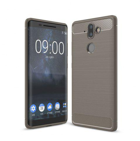 Корпус для Nokia 9 Luxury Carbon Fiber Anti Drop TPU Мягкая обложка