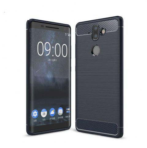 Hot Case for Nokia 9 Luxury Carbon Fiber Anti Drop TPU Soft Cover