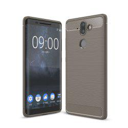 Корпус для Nokia 9 Luxury Carbon Fiber Anti Drop TPU Мягкая обложка -