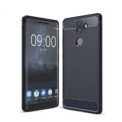 Case for Nokia 9 Luxury Carbon Fiber Anti Drop TPU Soft Cover -
