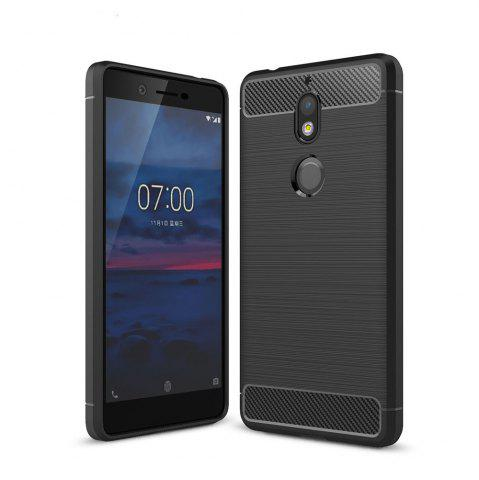 Outfit Case for Nokia 7 Luxury Carbon Fiber Anti Drop TPU Soft Cover