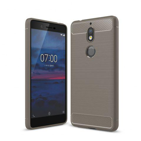 Affordable Case for Nokia 7 Luxury Carbon Fiber Anti Drop TPU Soft Cover