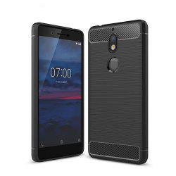 Корпус для Nokia 7 Luxury Carbon Fiber Anti Drop TPU Мягкая обложка -