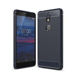 Case for Nokia 7 Luxury Carbon Fiber Anti Drop TPU Soft Cover -