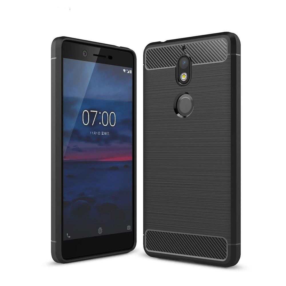 Корпус для Nokia 7 Luxury Carbon Fiber Anti Drop TPU Мягкая обложка