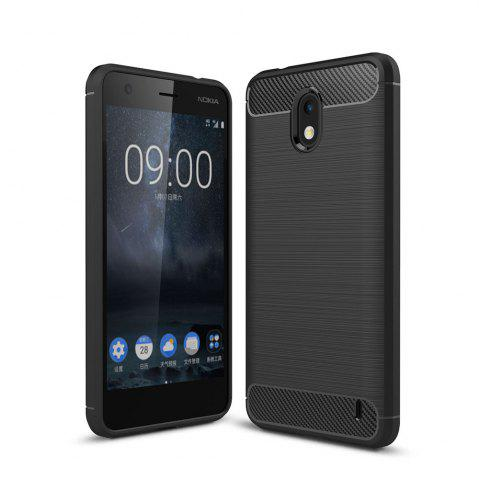 Hot Case for Nokia 2 Luxury Carbon Fiber Anti Drop TPU Soft Cover