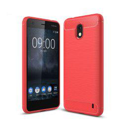 Case for Nokia 2 Luxury Carbon Fiber Anti Drop TPU Soft Cover -