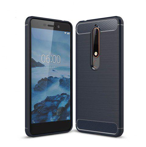Shop Case for Nokia 6 2018 Luxury Carbon Fiber Anti Drop TPU Soft Cover