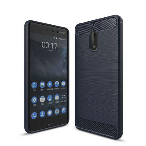 Best Case for Nokia 6 Luxury Carbon Fiber Anti Drop TPU Soft Cover
