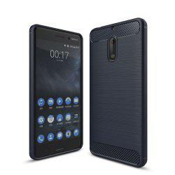 Case for Nokia 6 Luxury Carbon Fiber Anti Drop TPU Soft Cover -