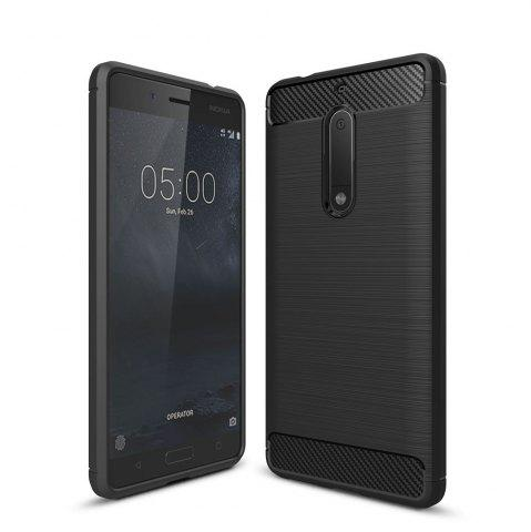 Корпус для Nokia 5 Luxury Carbon Fiber Anti Drop TPU Мягкая обложка