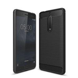 Case for Nokia 5 Luxury Carbon Fiber Anti Drop TPU Soft Cover -