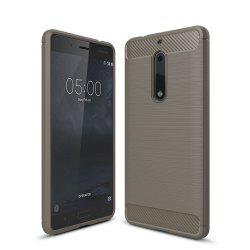 Корпус для Nokia 5 Luxury Carbon Fiber Anti Drop TPU Мягкая обложка -