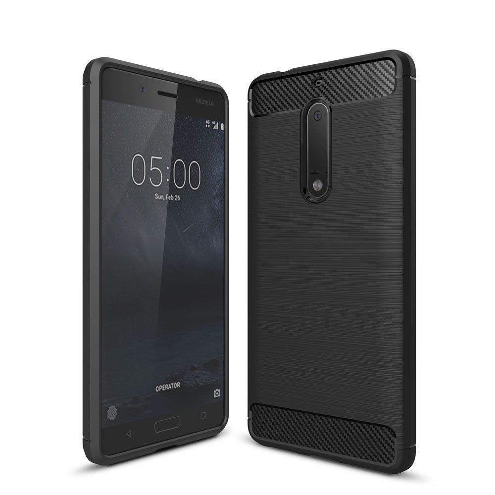 Discount Case for Nokia 5 Luxury Carbon Fiber Anti Drop TPU Soft Cover