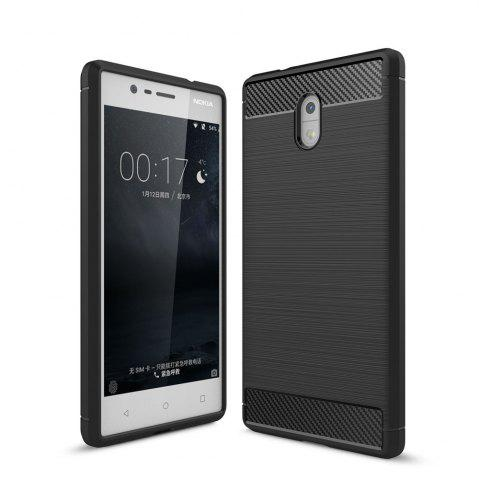 New Case for Nokia 3 Luxury Carbon Fiber Anti Drop TPU Soft Cover