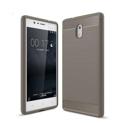 Sale Case for Nokia 3 Luxury Carbon Fiber Anti Drop TPU Soft Cover