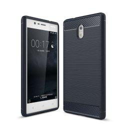 Case for Nokia 3 Luxury Carbon Fiber Anti Drop TPU Soft Cover -