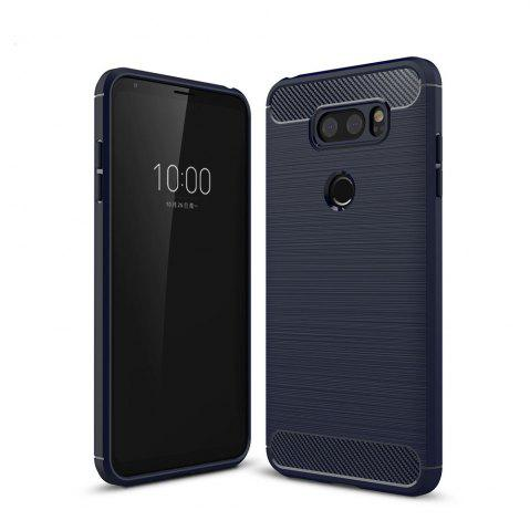 Trendy Case for LG V30 Luxury Carbon Fiber Anti Drop TPU Soft Cover