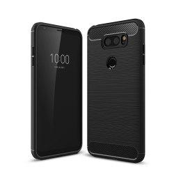Корпус для LG V30 Luxury Carbon Fiber Anti Drop TPU Мягкая обложка -