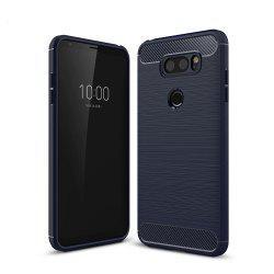 Case for LG V30 Luxury Carbon Fiber Anti Drop TPU Soft Cover -