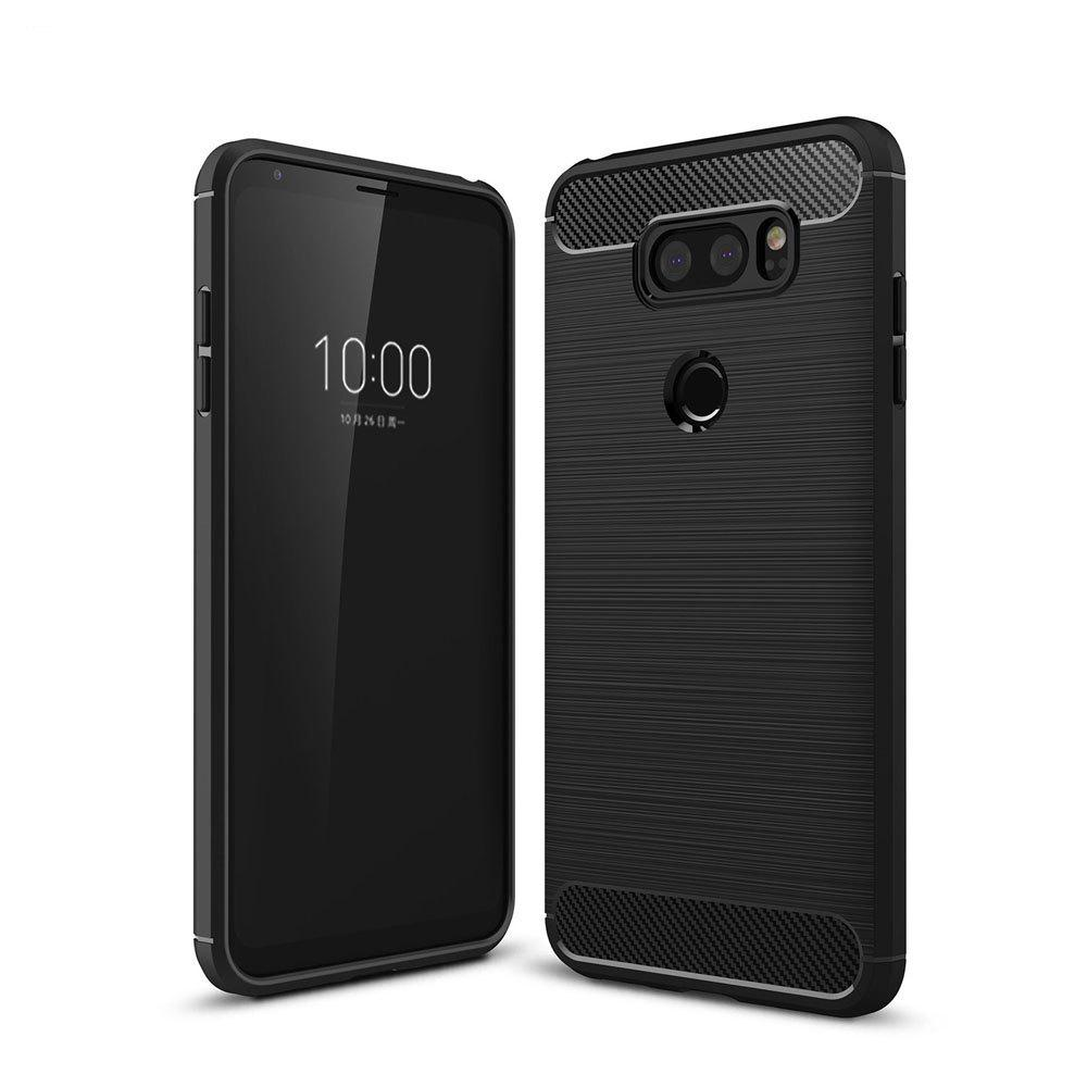 Корпус для LG V30 Luxury Carbon Fiber Anti Drop TPU Мягкая обложка