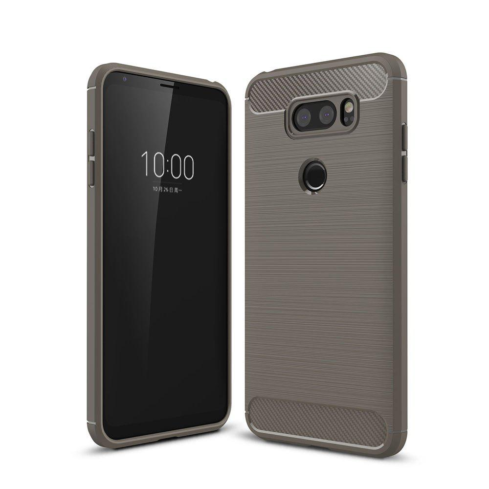 Outfits Case for LG V30 Luxury Carbon Fiber Anti Drop TPU Soft Cover