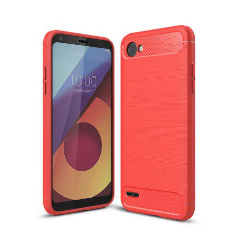 Buy Case for LG Q6 Luxury Carbon Fiber Anti Drop TPU Soft Cover