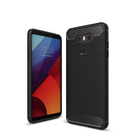 New Case for LG G6 Luxury Carbon Fiber Anti Drop TPU Soft Cover