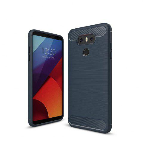 Hot Case for LG G6 Luxury Carbon Fiber Anti Drop TPU Soft Cover