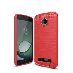 Case for Motorola Moto Z Play Luxury Carbon Fiber Anti Drop TPU Soft Cover -