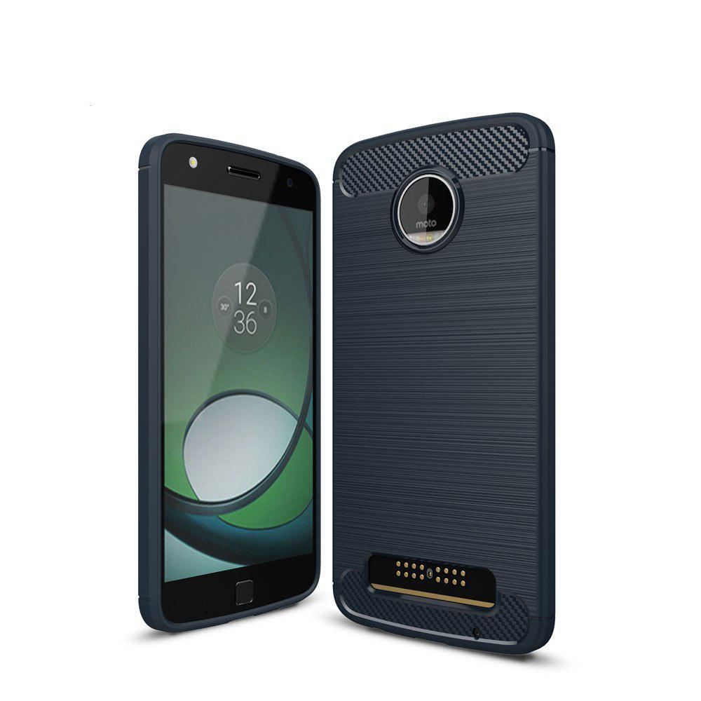 Fashion Case for Motorola Moto Z Play Luxury Carbon Fiber Anti Drop TPU Soft Cover