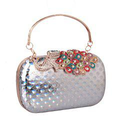Women PU Leatherette Clutch Bag Rhinestone MiniSpot Wedding Event Party Formal -