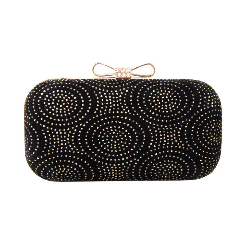 Hot Women Minaudiere Bag Rhinestone Bow Metal Chain MiniSpot Wedding Event Party