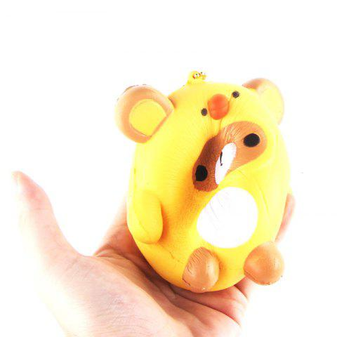 Cheap Jumbo Squishy PU Slow Rising Stress Relief Pendant Toy Replica Cartoon Chick for Adults