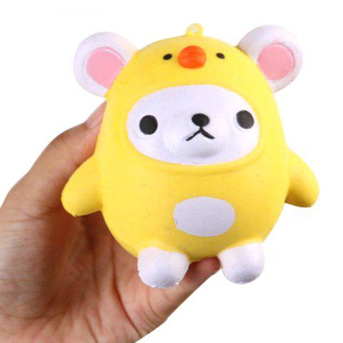 Jumbo Squishy PU Slow Rising Soulagement du stress Pendentif Jouet Replica Cartoon Chick pour les adultes