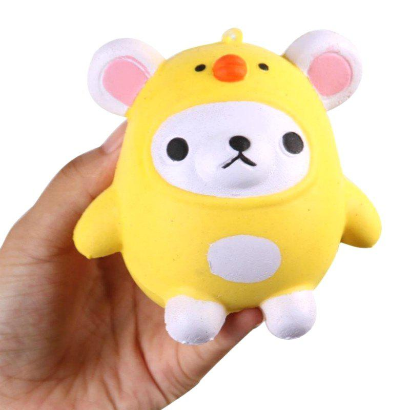 Outfits Jumbo Squishy PU Slow Rising Stress Relief Pendant Toy Replica Cartoon Chick for Adults
