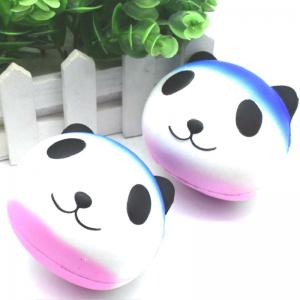 Jumbo Squishy PU Slow Rising Soulagement du Stress Jouet Replica Cartoon Blanc Panda Head pour Adultes -