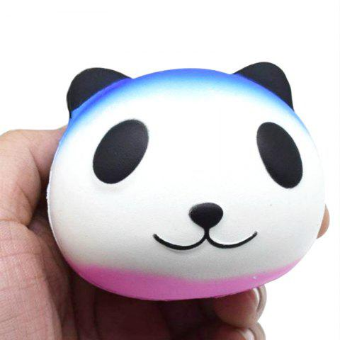 Jumbo Squishy PU Slow Rising Soulagement du Stress Jouet Replica Cartoon Blanc Panda Head pour Adultes