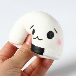 Jumbo Squishy PU Slow Rising Stress Relief Pendant Toy Replica Steamed Bun for Adults -