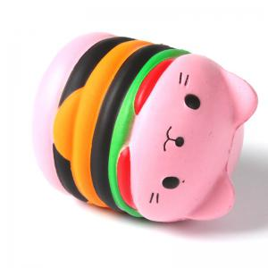 Jumbo Squishy PU Slow Rising Stress Relief Toy Replica Pink Burger Cat для взрослых -
