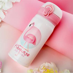 Flamingo Thermo Mug Steel Thermos Bottle Belly Cup Thermal Bottles for Water Insulated Tumbler Car Coffee Mug -