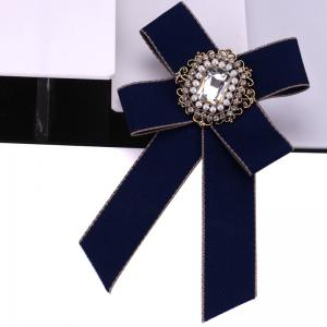 Новая мода Rhinestone Beads Bowknot Brooch Boutonniere Dual Use Temperament Cravat Tie для Lady -