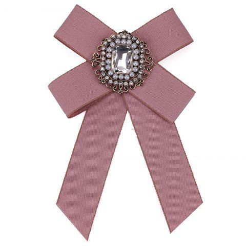Новая мода Rhinestone Beads Bowknot Brooch Boutonniere Dual Use Temperament Cravat Tie для Lady