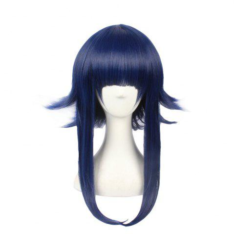 Unique Blue Color Party Custome Long Natural Straight Best Synthetic Hair Hinata Anime Cosplay Wig for Girls