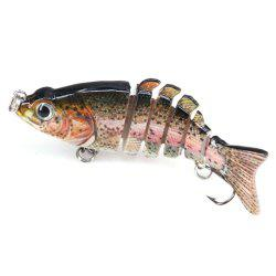 DEUKIO 6 Sections  Lure Bait F6J06 Multi-Baits Sink Bass Fishing -