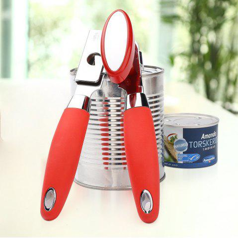 Cheap Stainless Steel Manual Can Opener Professional Heavy Duty Ergonomic Anti Slip Soft Grips Handle Big Knob
